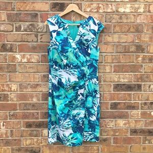 Adrianna Papell Size 12 Tropical Print Dress